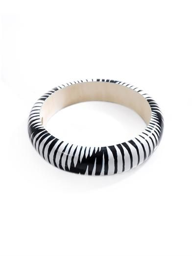 Isabel Marant Zigzag wooden bangle