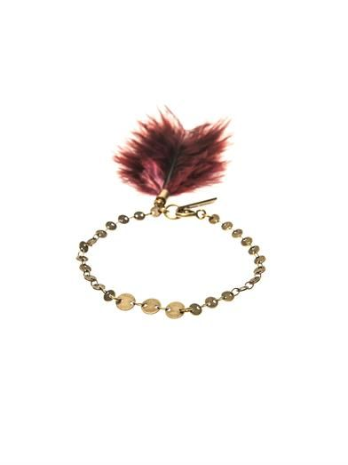 Isabel Marant Dodge feather charm bracelet