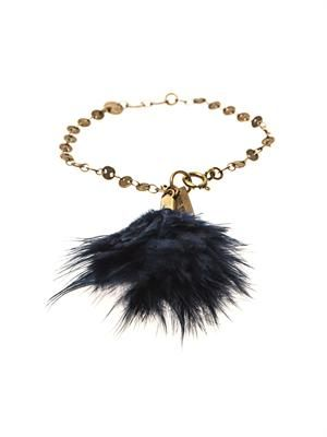 Dodge feather charm bracelet
