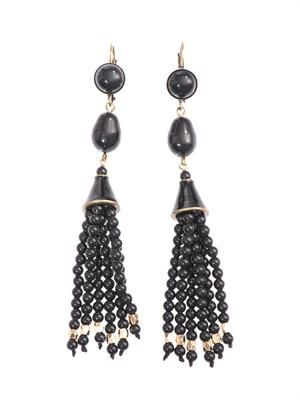 Paris Lovers bead tassel earrings