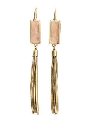 Times Square rose-quartz earrings
