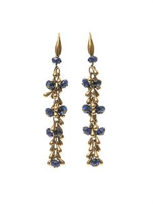 Polly crystal-embellished earrings