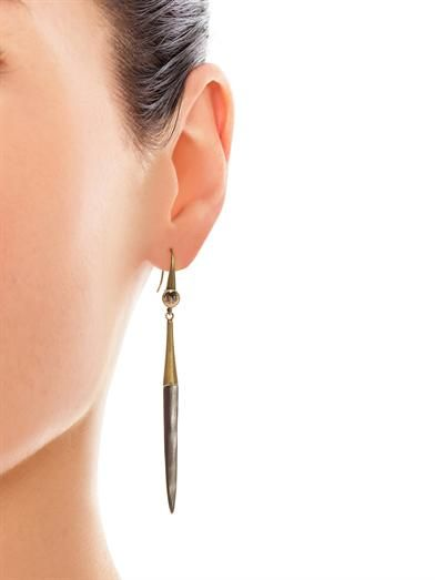 Isabel Marant Cobain buffalo bone earrings