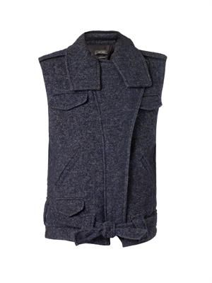 Estelle wool-blend oversized gilet
