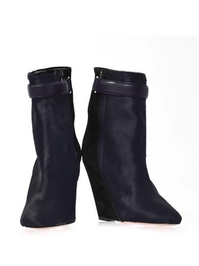 Isabel Marant Sade bi-colour wedge boots
