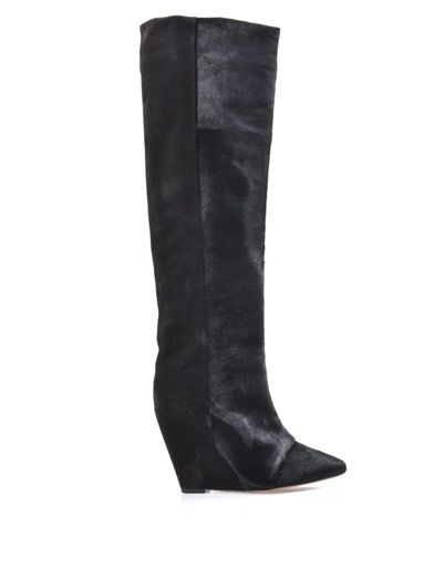 Isabel Marant Shelia pony hair and suede boots