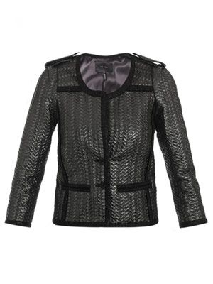 Blody collarless quilted jacket