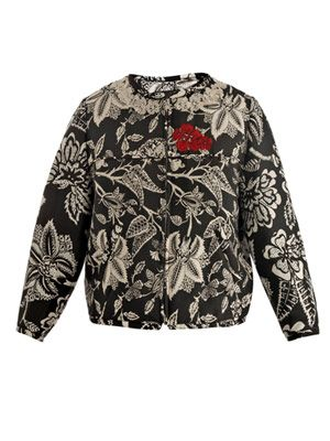 Hawaiian silk bomber-jacket