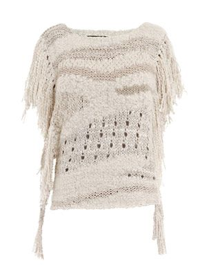 Agora fringed poncho top