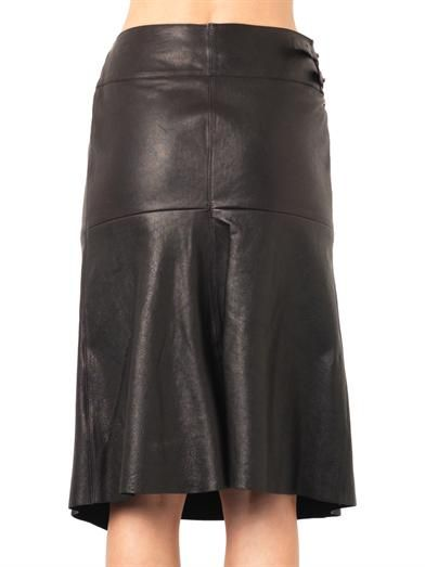 Isabel Marant Belia wrap-front leather skirt