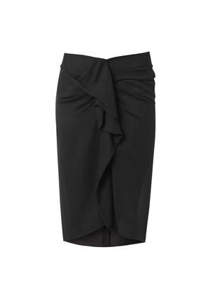 Huston ruched-front pencil skirt
