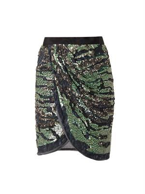 ISABEL MARANT Elmira embellished wrap skirt