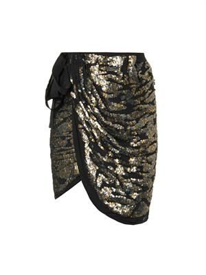 Felmira sequin-embellished skirt