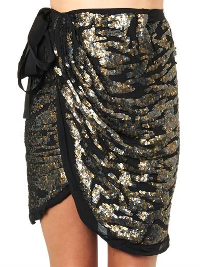 Isabel Marant Felmira sequin-embellished skirt