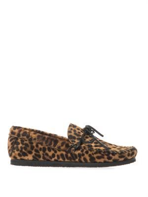 Flavie calf-hair moccasin shoes