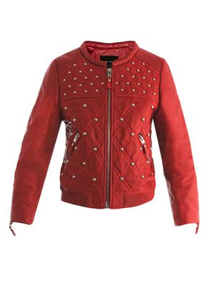 Bloomen leather bomber jacket