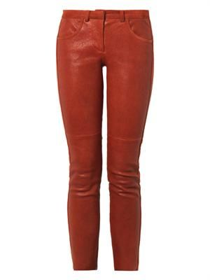 Dana leather trousers