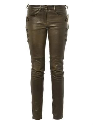 Haper skinny-leg leather trousers