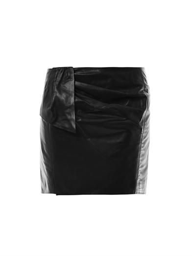 Isabel Marant Boden leather mini skirt