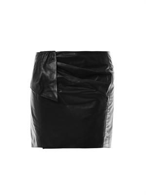 Boden leather mini skirt