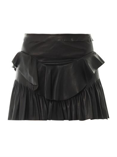 Isabel Marant Cyan leather mini skirt