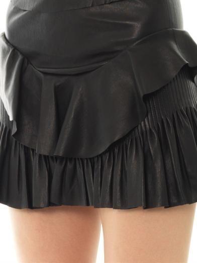 Isabel Marant Cyan leather mini skirt