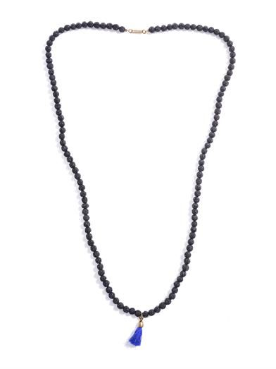 Isabel Marant Textured bead tassel necklace