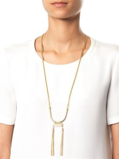 Isabel Marant Times Square rose-quartz necklace