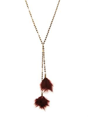 Dodge feather necklace