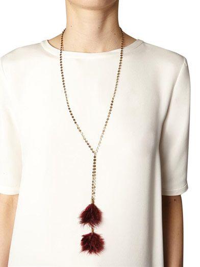 Isabel Marant Dodge feather necklace