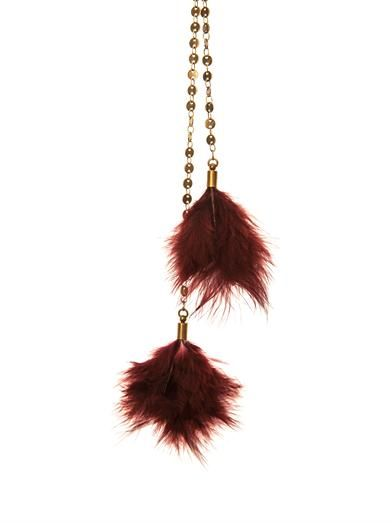 Isabel Marant Dodge feather necklace