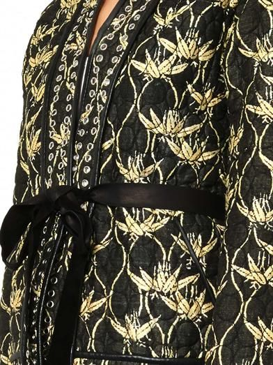 Isabel Marant Oma quilted silk-shantung jacket