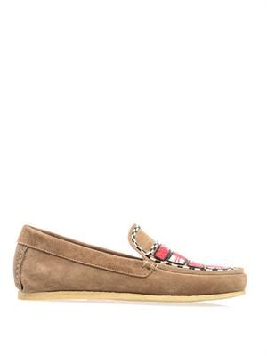 Anaco beaded suede loafers