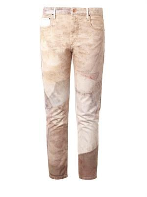 Valone low-slung relaxed skinny jeans