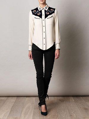 Lauryn cow-girl shirt