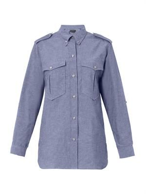 Filipa flecked chambray shirt