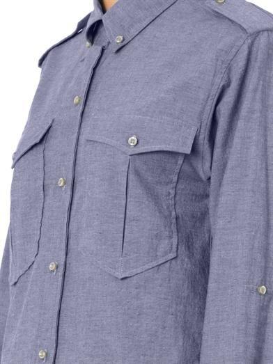 Isabel Marant Filipa flecked chambray shirt