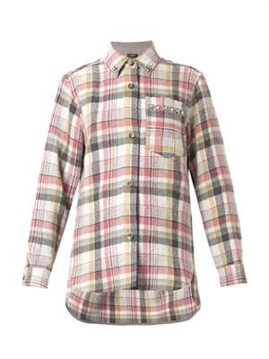 Milane check-print flannel shirt