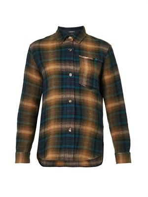Gilane checked wool-blend shirt