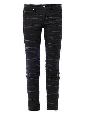 Orson embroidered mid-rise skinny jeans