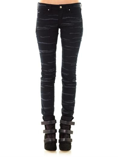 Isabel Marant Orson embroidered mid-rise skinny jeans