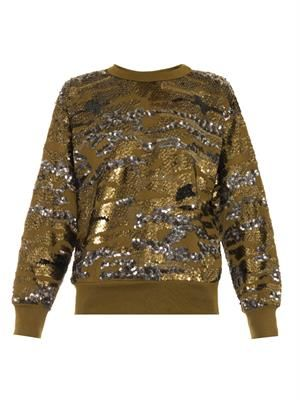 Hamilton sequin-embellished sweatshirt
