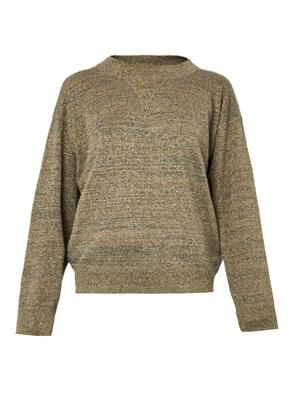 Wal metallic knit sweater
