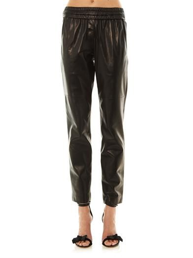 Isabel Marant Becka leather trousers