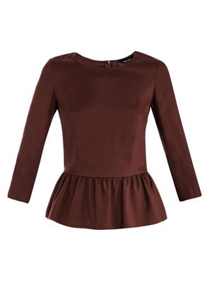 Tigrane modern peplum top