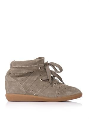Bobby suede wedge trainers