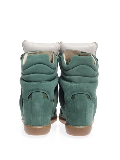 Isabel Marant Burt suede and leather wedge trainers