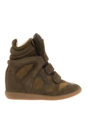 Bekett suede wedge trainers