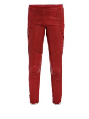 Kalas skinny leather trousers