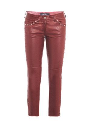 Zoltan star-stud leather trousers
